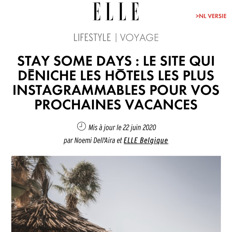 elle belgique presse stay some days hotels instagrammables
