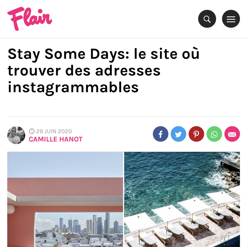 flair belgique presse stay some days hotels instagrammables