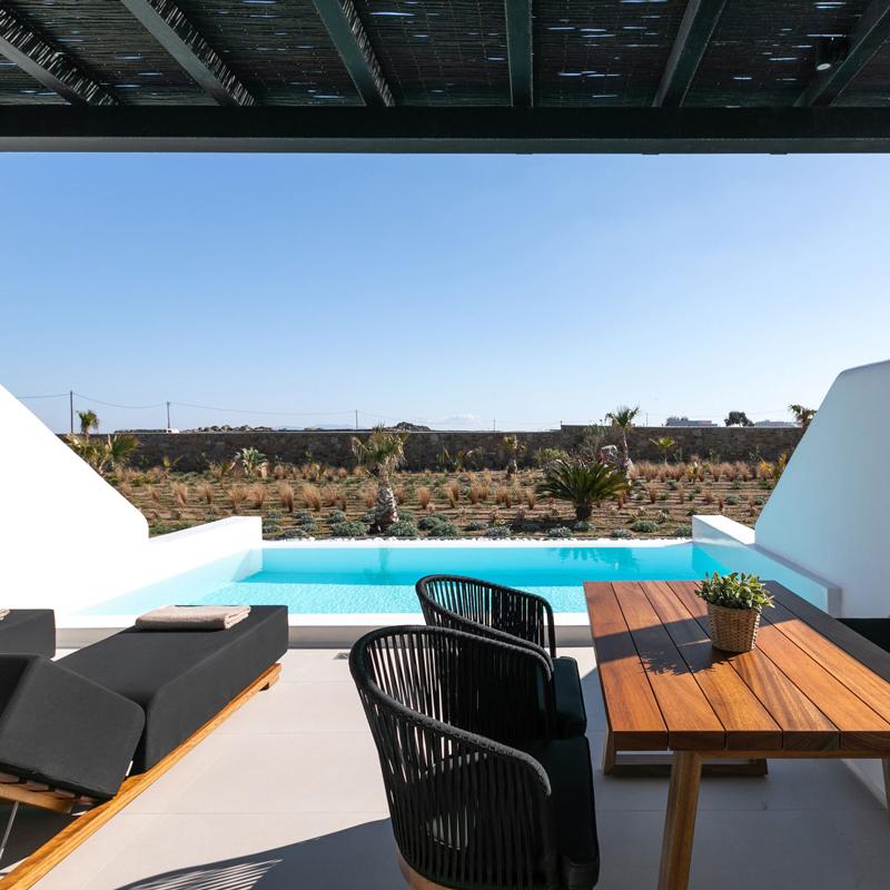 Agrari Black Villas hotel mykonos greece