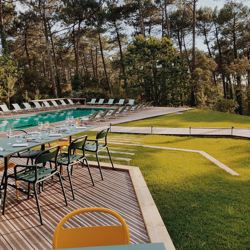 70 hectares et l'ocean hotel les domaines de fontenille seignosse landes france