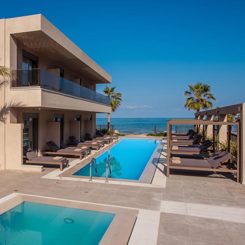 riviera beach hotel stalida crete greece
