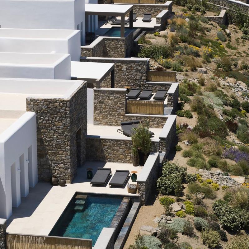 bonzoe mykonos hotel home villas megali ammos greece
